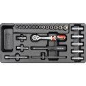 Vložka do zásuvky - kľúče nástrčné, 25 ks YATO YT5541