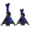 """Podstavce pod auto """"kobylky"""" 3 tony 285 - 425 mm s mechanickým blokovaním stojiny a gumovou podložkou   2 ks"""