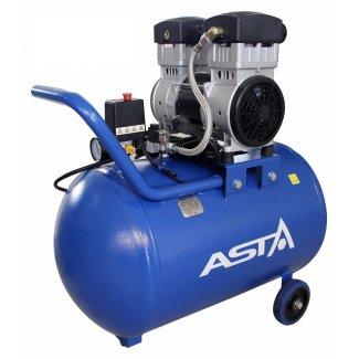 Vzduchový bezolejový dvojvalcový kompresor 72 l / 1,5 kW / 8,5 bar  ASTA