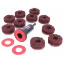 Brúsne kotúče pre čistenie nábojov kolies 38mm + držiak 1 ks ASTA