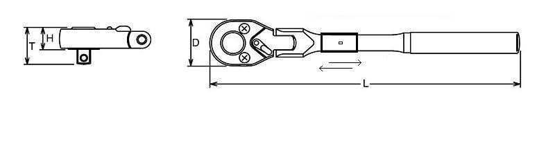 """Výkyvna teleskopická račňa 1/2"""" 355 - 495 mm  ASTA A-KH6012F"""